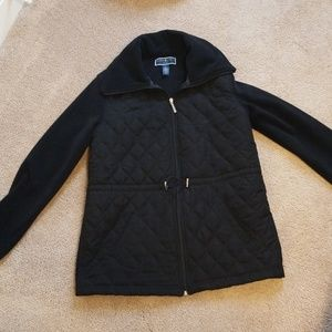 Karen Scott Sport quilted fleece jacket